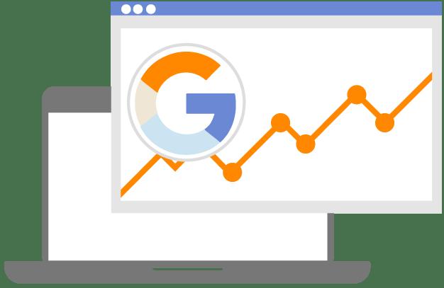 Website Optimierung - Chart mit positivem Umsatzverlauf